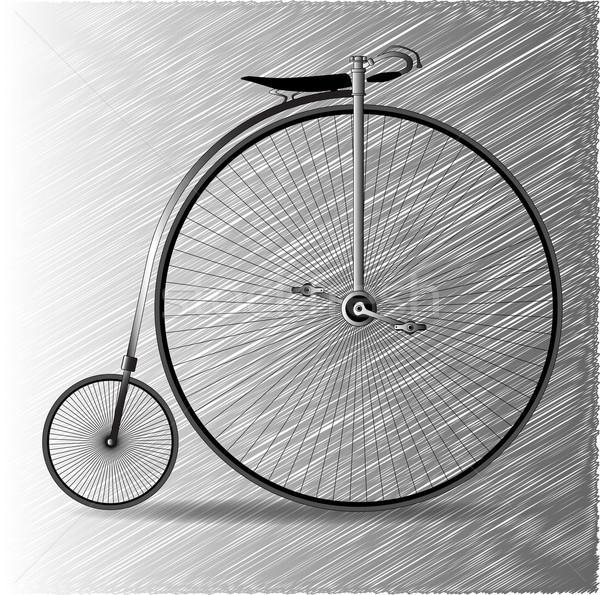 пенни велосипед типичный ретро Vintage колесо Сток-фото © Bigalbaloo