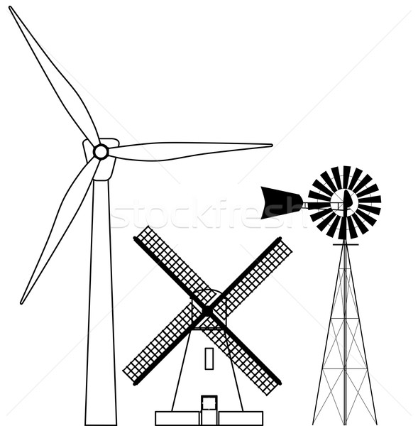 Windmill Collection Stock photo © Bigalbaloo