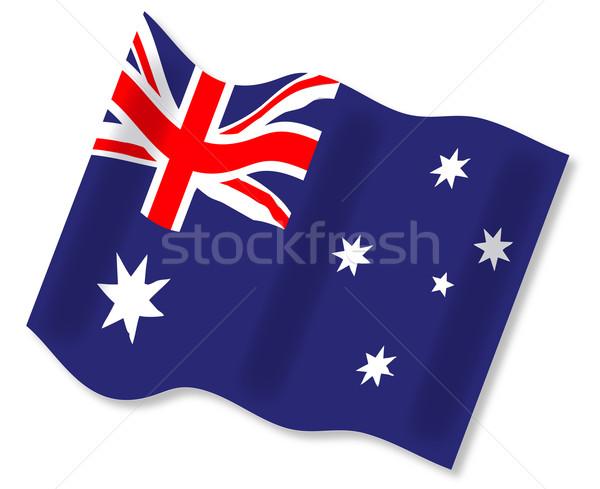 Waving Australian Flag Stock photo © Bigalbaloo