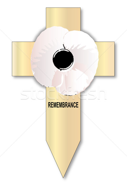 White Poppy Cross Stock photo © Bigalbaloo