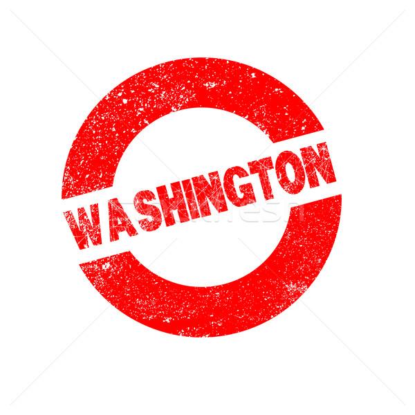 Gumi tinta bélyeg Washington szöveg Stock fotó © Bigalbaloo