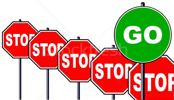 Stop and Go Stock photo © Bigalbaloo