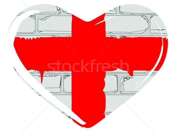 любви Англии флаг святой набор внутри Сток-фото © Bigalbaloo