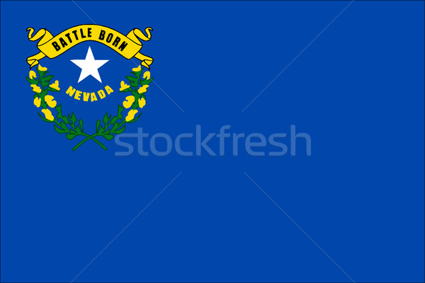 Невада флаг американский рисунок Соединенные Штаты иллюстрация Сток-фото © Bigalbaloo