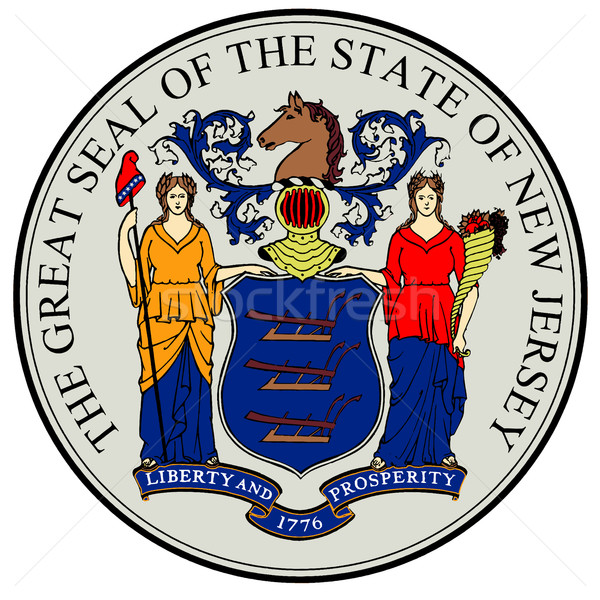 New Jersey State Seal Stock photo © Bigalbaloo
