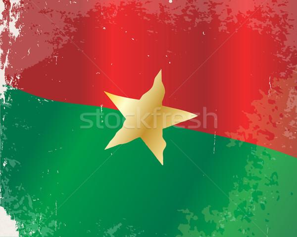 Burkina Faso Flag Stock photo © Bigalbaloo