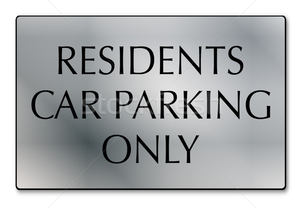 Residents Car Parking Only Stock photo © Bigalbaloo