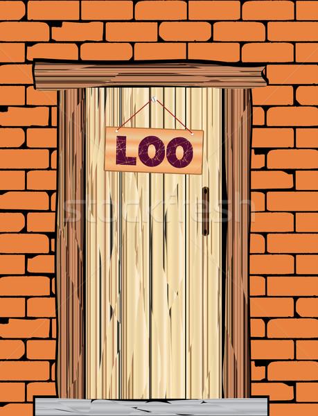 Outside Loo Door Stock photo © Bigalbaloo