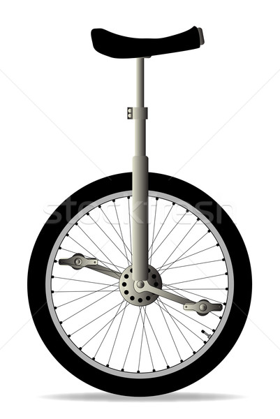 一輪車 白 孤立した 芸術 旅行 自転車 ストックフォト © Bigalbaloo