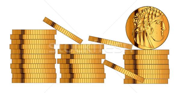 30 sztuk złota biały ceny rysunek Zdjęcia stock © Bigalbaloo