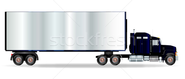 Truck Tractor Unit And Trailer Stock photo © Bigalbaloo