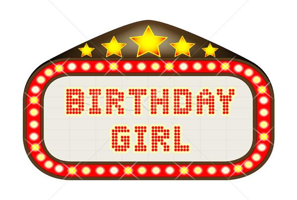 Cinema Marquee Birthday Girl Stock photo © Bigalbaloo