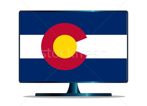 Colorado vlag tv computerscherm computer monitor Stockfoto © Bigalbaloo
