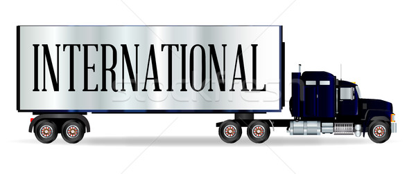 Truck Tractor Unit And Trailer With International Inscription Stock photo © Bigalbaloo
