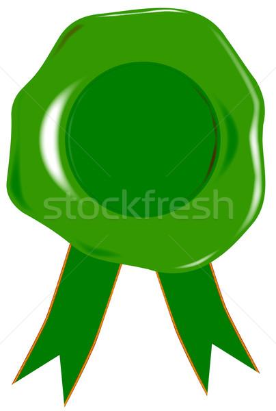 Green Blank Seal Stock photo © Bigalbaloo