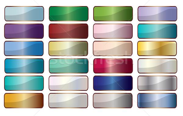 Webボタン コレクション 長方形 画像 webアイコン 白 ストックフォト © Bigalbaloo