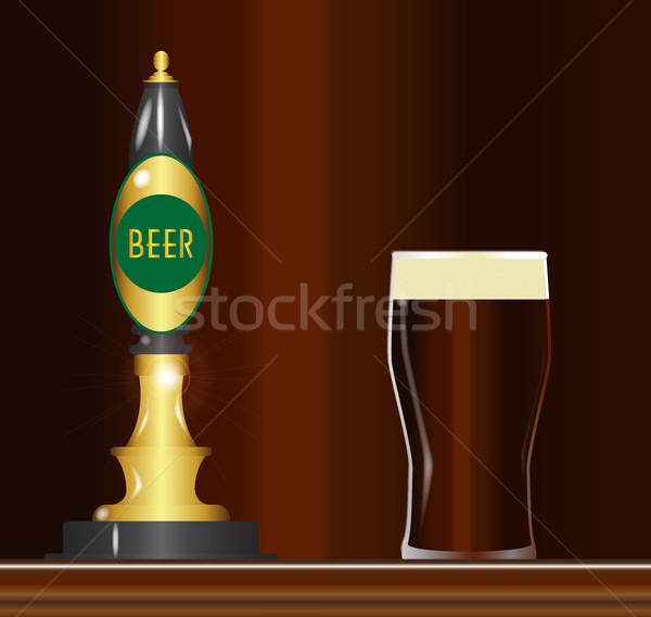 Beer On The Bar Stock photo © Bigalbaloo