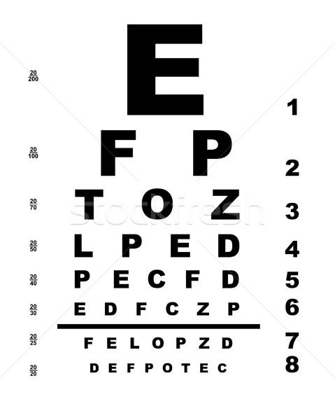 Stockfoto: Grafiek · typisch · witte · oog · medische