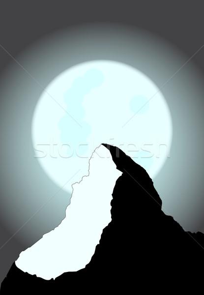 Moonlit Mountain Stock photo © Bigalbaloo