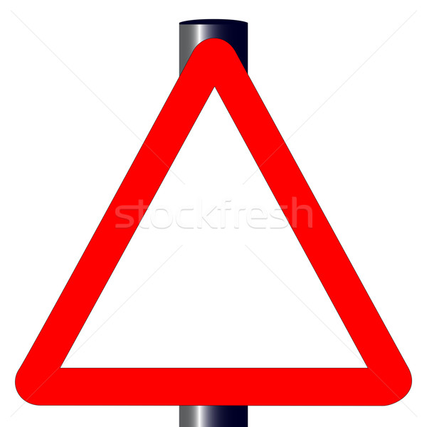 Blank Triangle Traffic Sign Stock photo © Bigalbaloo