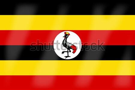Uganda bayrak Afrika ülke Afrika Stok fotoğraf © Bigalbaloo