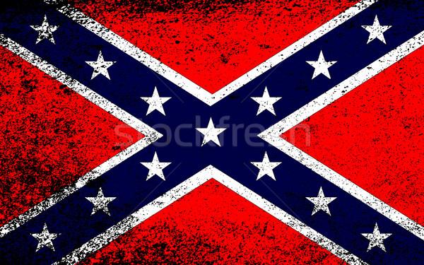 Grunge Confederate Flag Stock photo © Bigalbaloo