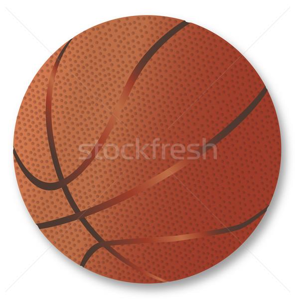 Basketball Over White Background Stock photo © Bigalbaloo