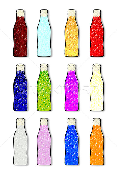 Soda Bottle Flavor Icons Stock photo © Bigalbaloo