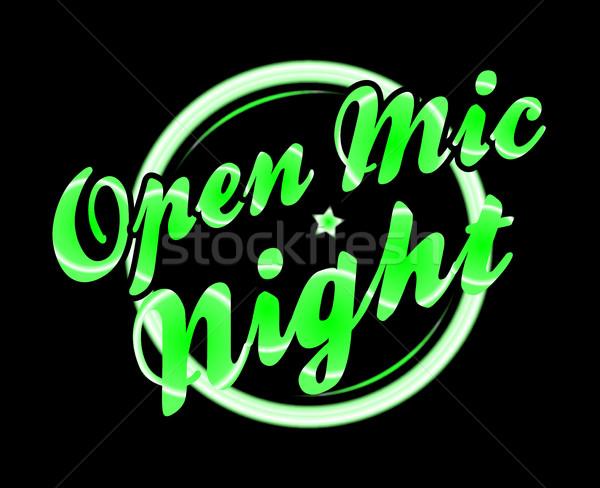 Open Mic Night Florescent Light Stock photo © Bigalbaloo