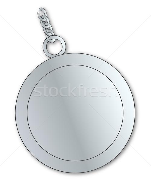 Blank Lucky Silver Charm Stock photo © Bigalbaloo