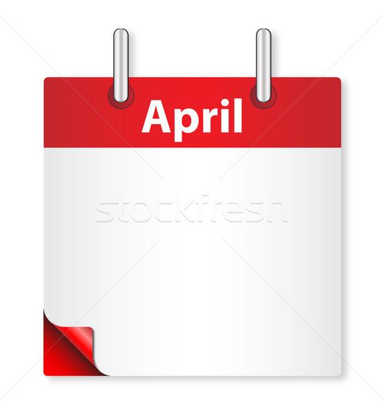 Blank April Date Stock photo © Bigalbaloo