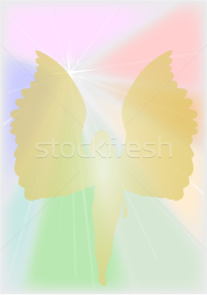 Winged Angel Stock photo © Bigalbaloo