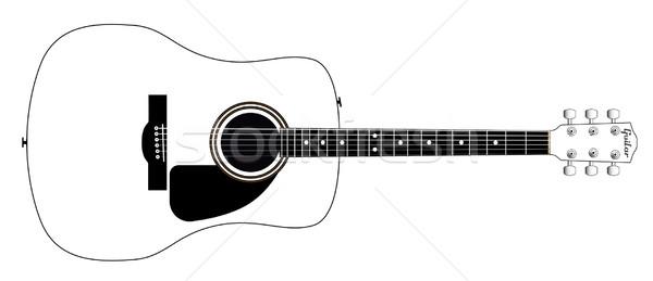 White Guitar Stock photo © Bigalbaloo