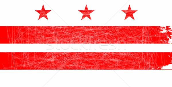 Washington DC State Flag Stock photo © Bigalbaloo