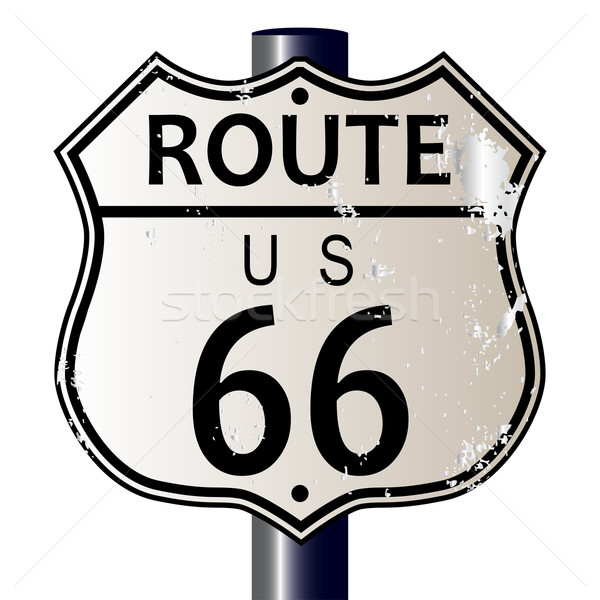 Route 66 Highway Sign Stock photo © Bigalbaloo