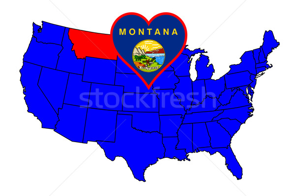 State of Montana Stock photo © Bigalbaloo