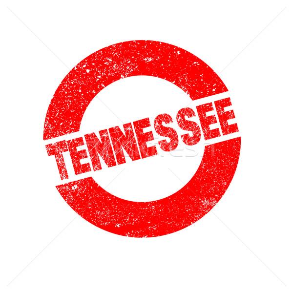 Gumy atramentu pieczęć Tennessee tekst Zdjęcia stock © Bigalbaloo