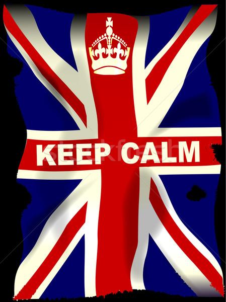 Union jack kroon poster vlag achtergrond Stockfoto © Bigalbaloo