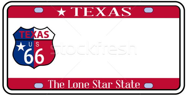 Texas placa cores bandeira ícones route 66 Foto stock © Bigalbaloo