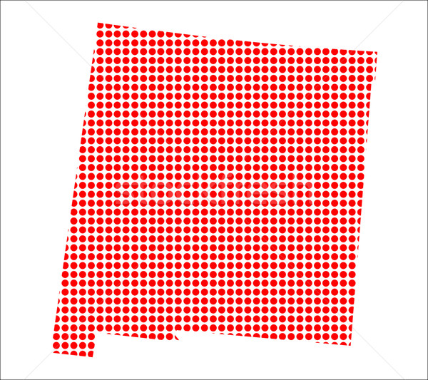 Red Dot Map of New Mexico Stock photo © Bigalbaloo