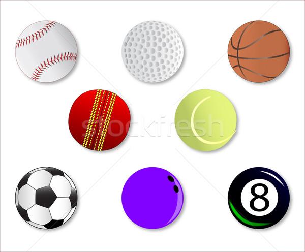 Sport Ball Icons Stock photo © Bigalbaloo