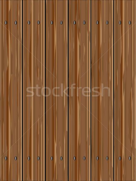 Pine Wood Fence Stock photo © Bigalbaloo