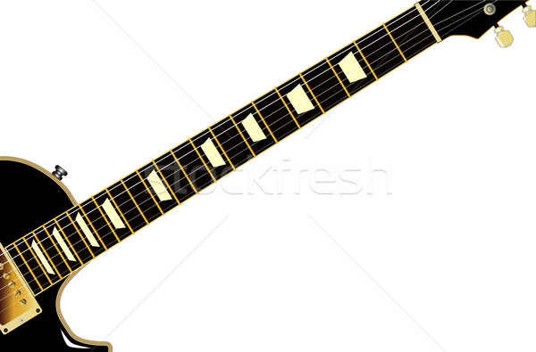 Blues guitarra rock rodar negro aislado Foto stock © Bigalbaloo