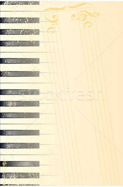 Antique Piano Background Stock photo © Bigalbaloo