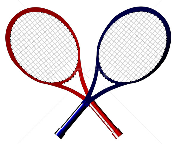 Pár tenisz izolált fehér labda testmozgás Stock fotó © Bigalbaloo