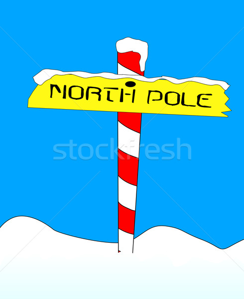 North Pole Stock photo © Bigalbaloo