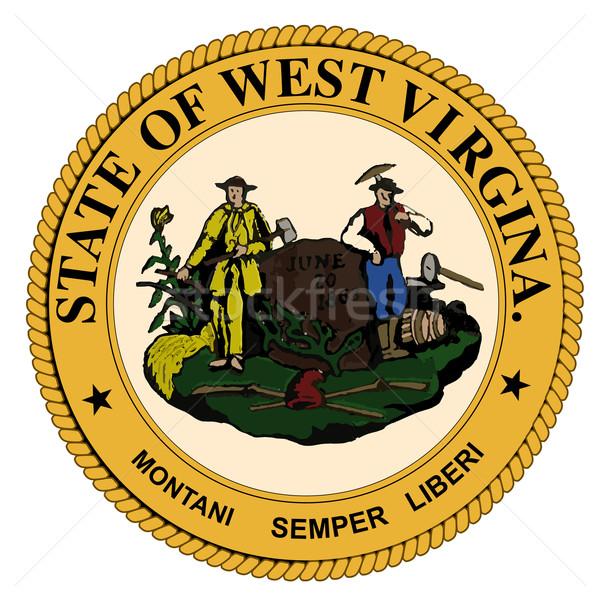 West Virginia State Seal Stock photo © Bigalbaloo