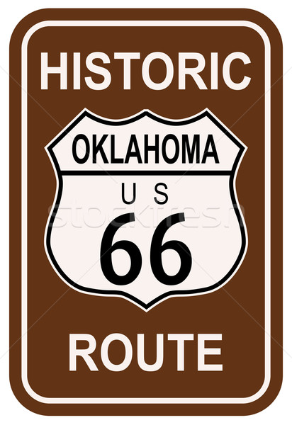 Oklahoma Historic Route 66 Stock photo © Bigalbaloo