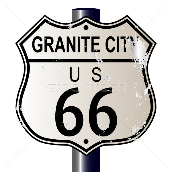 Granite City Route 66 Sign Stock photo © Bigalbaloo