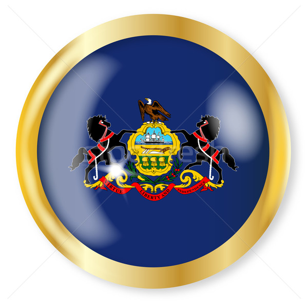 Pennsylvania  Flag Button Stock photo © Bigalbaloo